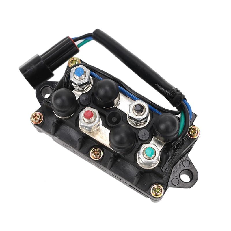 2/4 course 12 V 3 broches prise assemblage moteurs hors-bord garniture de puissance relais d'inclinaison remplacer pour Yamaha 25 40 50 60 75 90 150 225 250 ch C ~ 5