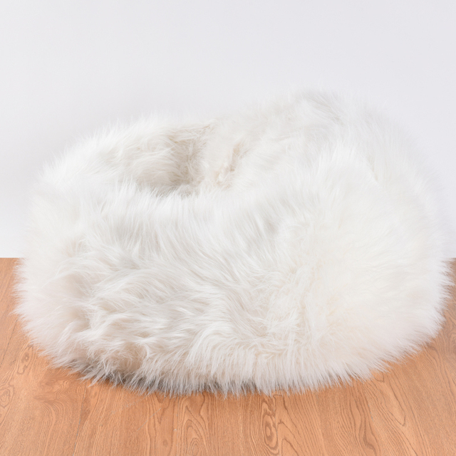 Fuzzy Chair Covers Vanity Mirror And Indoor Lazy Boy Faux Fur Bean Bag Cover With Inner Without Filling Living Room Beanbag