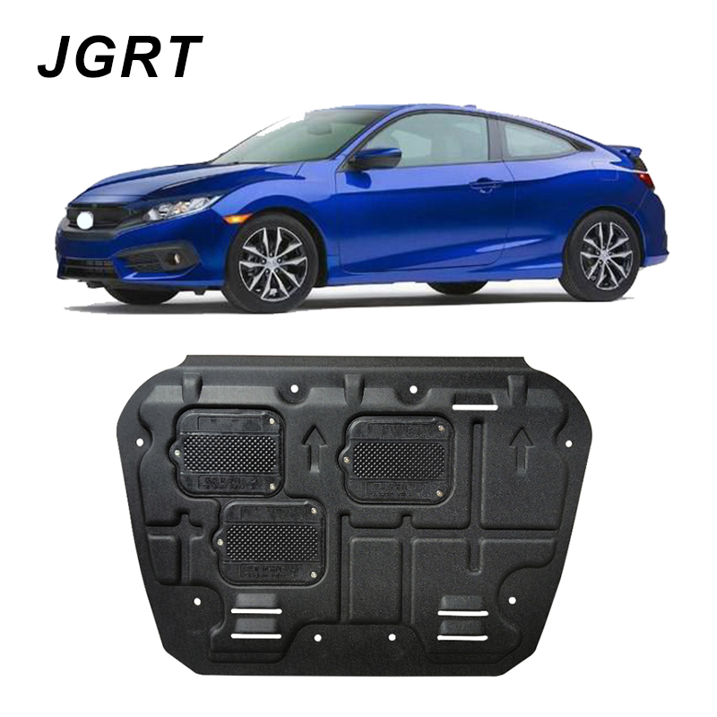Car styling For Honda Civic 10th plastic steel engine guard For Civic 2016-2018 Engine skid plate fender 1pc ...