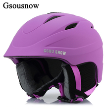 Gsou Snow Unisex Ski Helmet Breathable Ultralight Skiing Cap For Men Women Snowboard Skateboard Winter Outdoor Sports Safety Hat