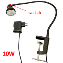Lámpara Led de escritorio con cuello de cisne, 110V/220V, 10W