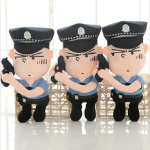 New Creative Policemen Short Plush Toys Stuffed Policemen Soft Plush Doll Toy Children Gifts Boys Birthday Gift new arrive 6 styles policemen soldiers military doll model toys for children learning playing christmas gift