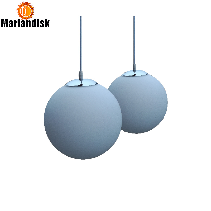 Modern Indoor Pendant Lights E27 White Glass Ball Led Suspension Lamp Living Room Dining Room Bar Home Lighting Hanging Lamps glass ball branching bubble pendant chandeliers for dining room living room modern chandelier lighting lustre led avize e27 lamp