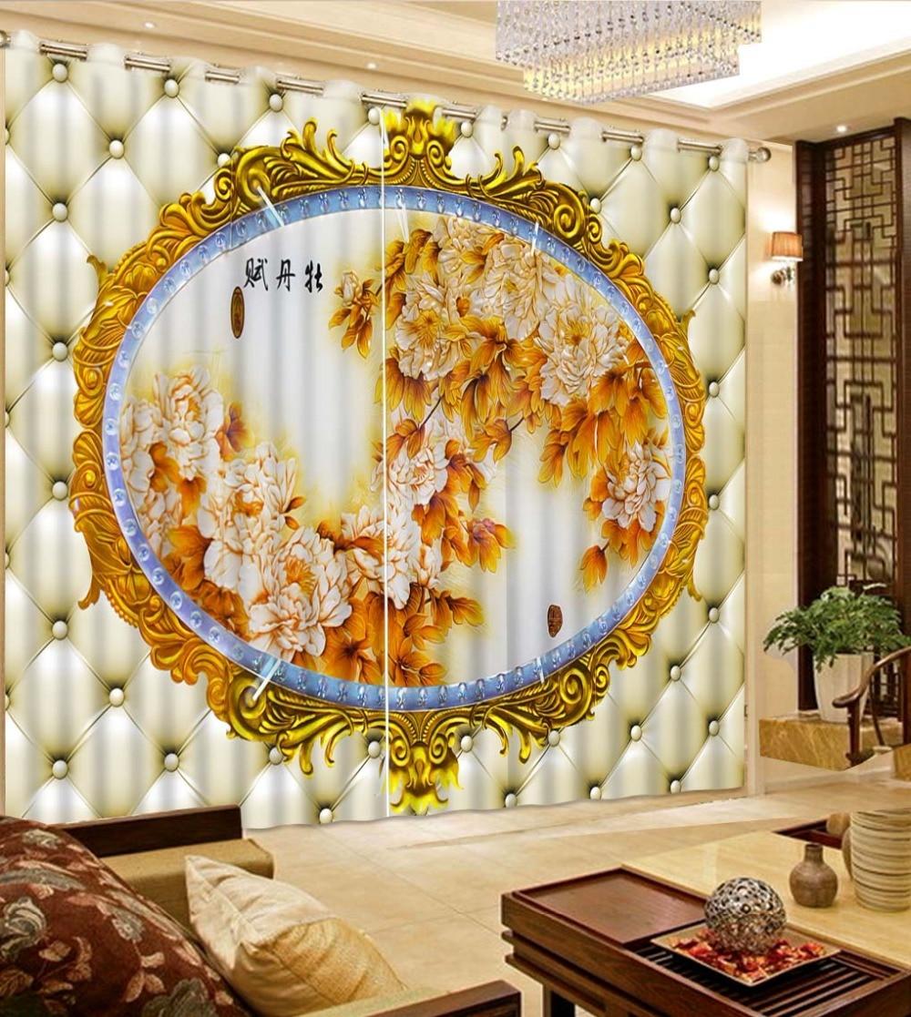 soft curtains flower curtain 3D Window Curtain Dinosaur print Luxury Blackout For Living Room