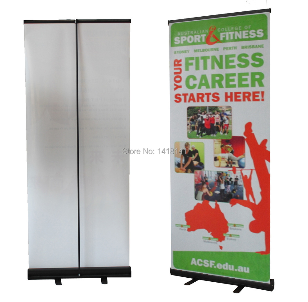 Wholesale Fabrics Brisbane Us 405 Wholesale 6pc 85 200cm Black Color Standard Pull Up Display Banner Stand With Vinyl Fabric Printing Trade Show Roll Up Banners In Flags