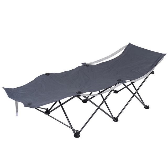 Durable Acampamento Ocasional ao ar livre Portátil Dobrável Cadeira de Praia Cadeira Reclinável OP2489