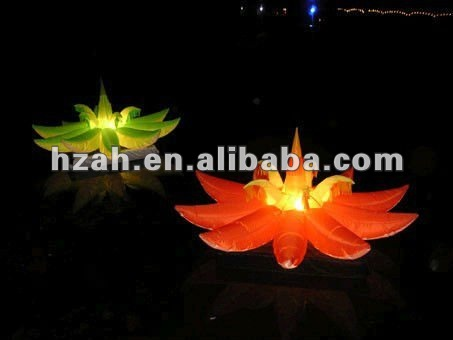 inflatable lighting flower for party decoration