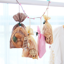 Изысканная натуральная вредителями сухофрукты красивая сумка Saussurea/Роза/Жасмин/лимонный аромат ароматизированный мешок дезодорирующий