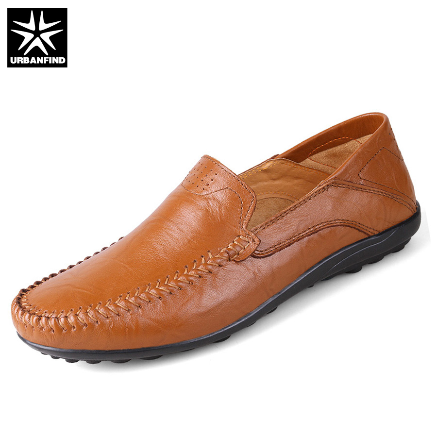 Fashion Men Leather Driving Shoes Plus Size 45 46 47 Brand Man Casual Slip-on Loafers Size 37-47 Spring Summer Footwear