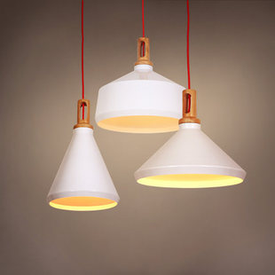 Nordic Designer white aluminum wood pendent lamp Personality Creative Lamp for Bar Dining Room living room A353