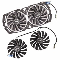 Original For MSI GTX1080Ti 1080 1070Ti 1070 1060 ARMOR Graphics Card Cooling Fan PLD10010S12HH 12V 0