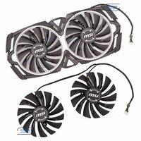 Original For MSI GTX1080Ti 1080 1070Ti 1070 1060 ARMOR Graphics Card Cooling Fan PLD10010S12HH 12V 0