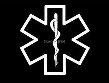 Medic Star of Life Symbol EMT car window font b sticker b font vinyl decal funny