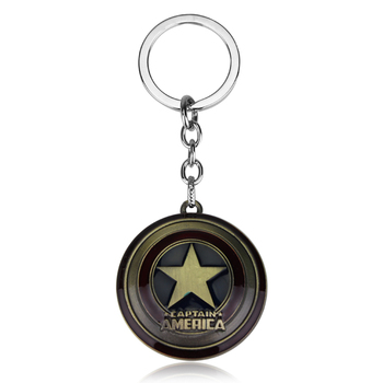 The Avengers 4 Endgame Captain America Star Shield Keychain 1
