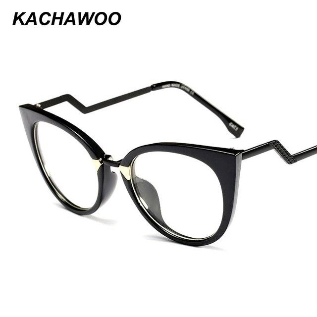 bb90328eb4e Kachawoo wholesale 6pcs vintage cat eye eyeglasses frames women 2018 half  metal blue black fashion glasses female accessories