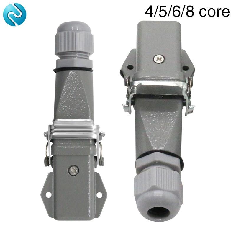 Heavy duty connector 4 core (3+1)5 (4 +1)6 (5+1)8 (7+1)-3 gas plug 250V Horizontal aviation plug.