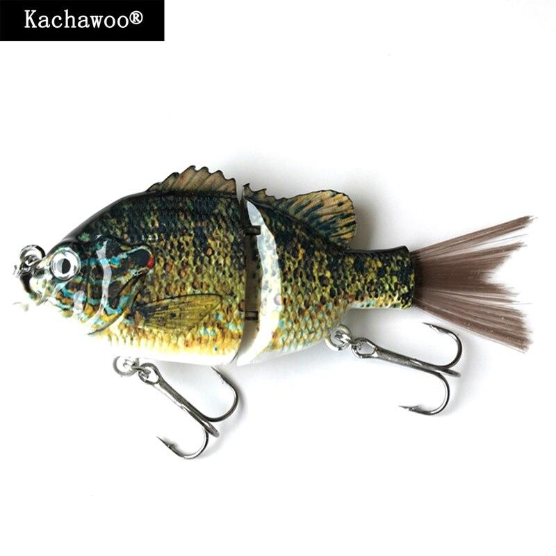 Wobbler Angeln 2 Abschnitt Segmente 5 zoll 45g Haar Schwanz Sunfish Lockt Salzwasser Angeln Swimbait Harten Köder Crankbait angeln