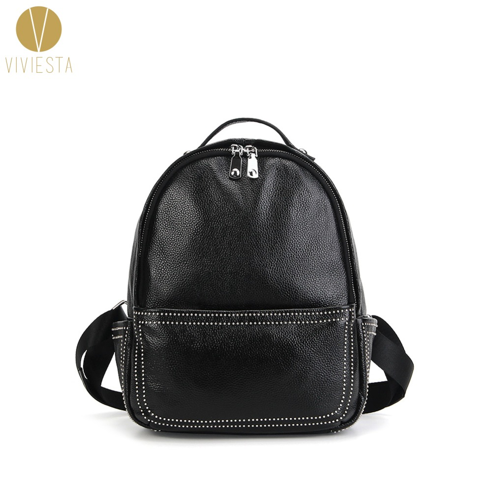 Structured Black Leather Backpack- Fenix Toulouse Handball bfd4e1a680271