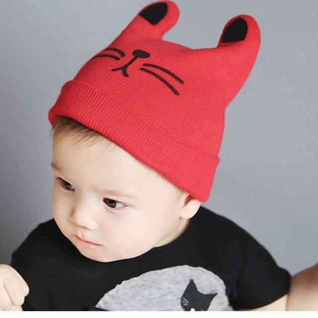 fc9b35e038e 2018 New Fashion High Quality Baby Hats for Winter Beard Cap Horns Printed  Kids Warm Hats