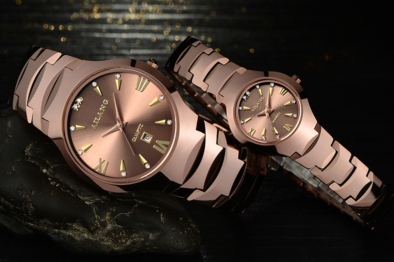 AILANG Business Design Lovers Watches Simple Fashion Men Women Dress Wristwatch Scratch-proof Tungsten Steel Watch Couples A113 muhsein hot sellingnew lovers quartz watches stainless steel watch business women dress watches for couples free shipping