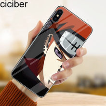 ciciber Tempered Glass Phone Case Funda For iPhone 7 8 6 6S Plus Relief Naruto Cover For iPhone 11 Pro Max X XS XR XS Max Coque ciciber dragon ball phone case for iphone 11 pro max xr x xs max tempered glass cover cases for iphone 7 8 6 6s plus funda coque
