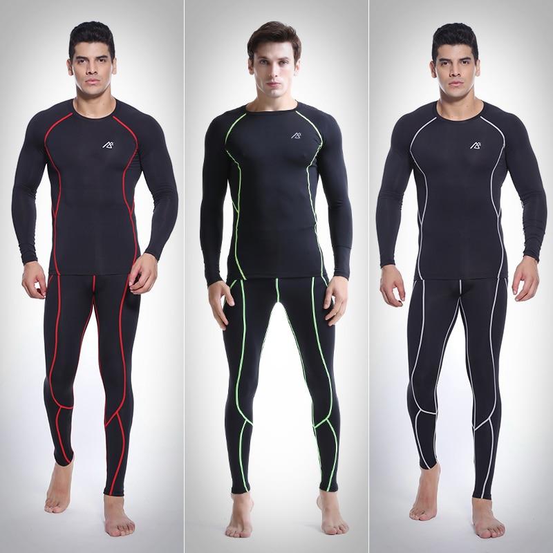 PRO фитнес comepression базовый слой для мужское трико одежда мужская Баскетбол футбол Бег одежда - 2