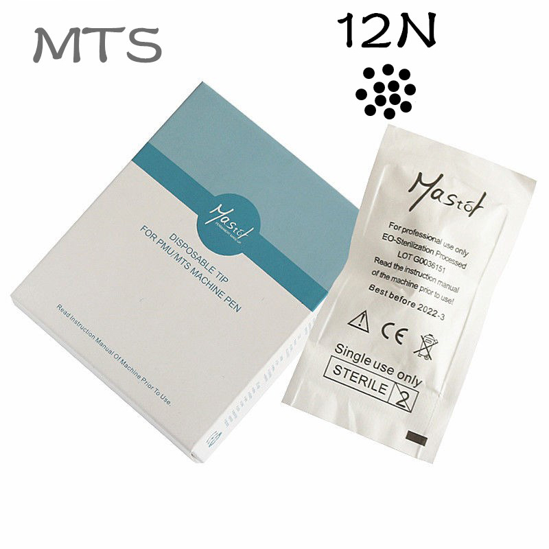 Mastor permanent makeup 12N Disposable needle for Mastor Rotary PMU Machine Screw interface 15pcs lot MTS