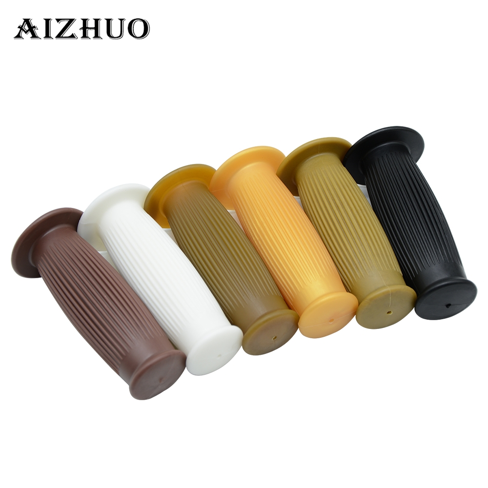 25mm 28mm Motorcycle Universal Rubber Black Brown Handlebar Hand Grip Bar End For Cafe Racer Bobber Clubman Custom in Grips from Automobiles Motorcycles