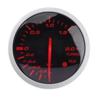 Universal 60mm 2.5in Aluminum Alloy Racing Car Turbo Boost Gauge White+ Red Light Meter with Sensor Auto Accessories