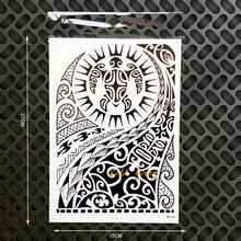 Rock Dwayne Johnson Star 3D Temporay Tattoo Sticker Large Arm Tattoo Sleeve 21x15CM Flash Waterproof Tatoo Men Totem Armband