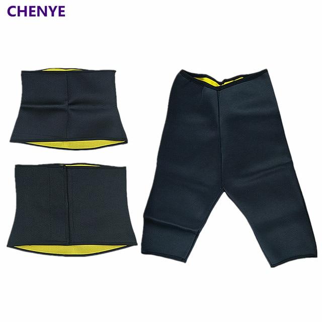 db28bc9e35fdb Hot Waist Trainer Extreme Sweat Neoprene Body Shaper Slimming Belt Pants Hot  Women s Compression Corset Shapewear Slimming Pants