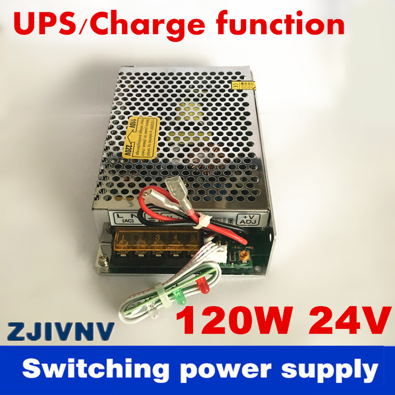 New arrival 120W 24V 4A UPS/Charge function switching power supply input 110/220v battery charger output 13.8v for SC-120W-24 цены