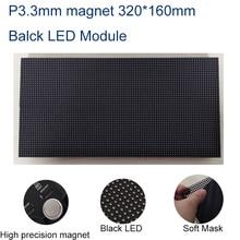 P3.3 Крытый магнит черные Светодиоды smd СВЕТОДИОДНЫЙ экран 320x160 мм 24 сканирования рекламные светодиодные панели