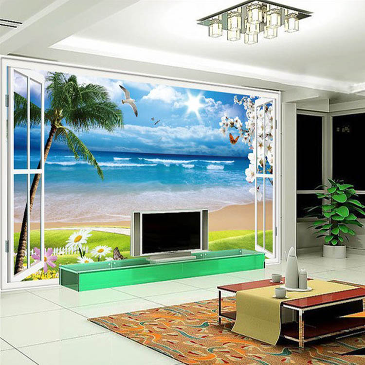 Buy cheap wallpaper customize 3d bedroom for Cheap living room wallpaper
