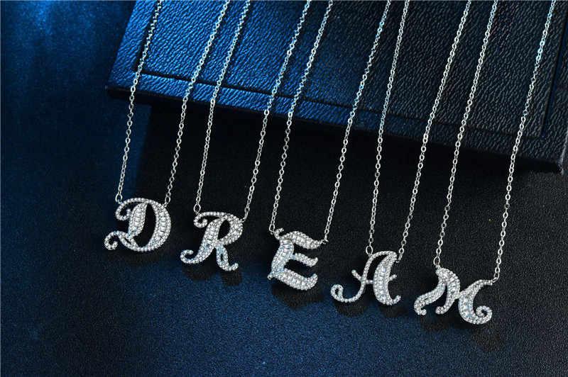 Choucong мода 26 подвески-буквы 5A Cz стерлингового серебра 925 пробы Свадебный кулон с ожерелья для женщин Свадебная вечеринка ювелирные изделия