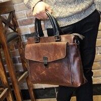Good Leather Vintage Men S Business Laptop Men Bag Leather Bag For Macbook 13 3 Computer
