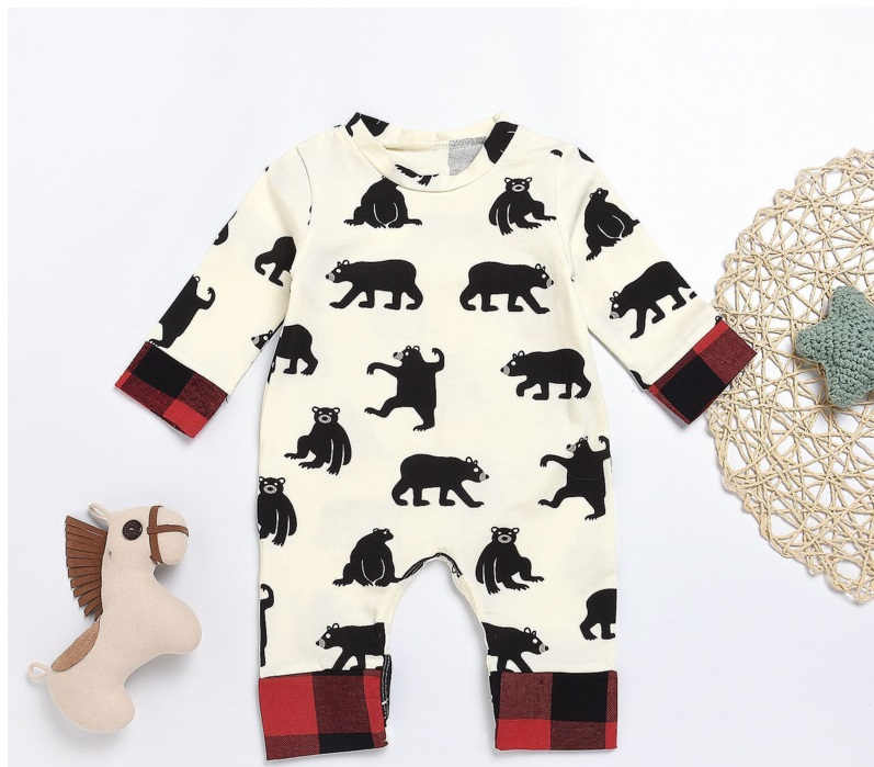Newborn Infant Baby   Romper   2018 Autumn BEAR BUM Cotton Animal Overall baby girls jumpsuit Baby boys clothing outfit