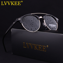 LVVKEE 2017 High Quality Latest Styles Metal Half Frame Sunglasses Women/Men Classic Club Polarized Sun glasses Oculos de sol