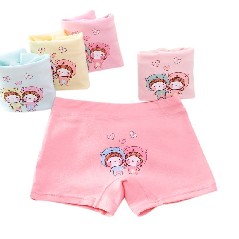 5Pcs Baby Panties For Girls Underpants New Cotton Cute Breathable Soft Cartoon Animal Print Underwear Panties Training Briefs