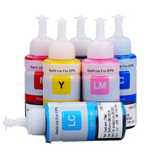 Ink refill kits Printer ink for Epson ink L800 L810 L805 Bottle ink 70ml dye based 70ml 6 color dye ink based on oem of refill ink kit for epson l series printer ink cartridge no t6741 2 3 4 5 6