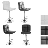 Swivel Bar Stool Modern Chrome Chrome Faux Leather Bar Chair Gas Lift Adjustable Height HOT SALE