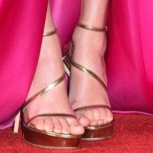 Women High Heels Sandals Gold Metallic Clear PVC Studs Stiletto Heel Ankle Strap Sandals perixir women shoes fashion pvc clear sandals ankle strap high heel female sandals night club platform heels back zip block heel