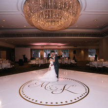 Wedding Dance Floor Circle Monogram Vinyl Decal Removable For Custom Personalized Decor Roll Wallpaper WD31