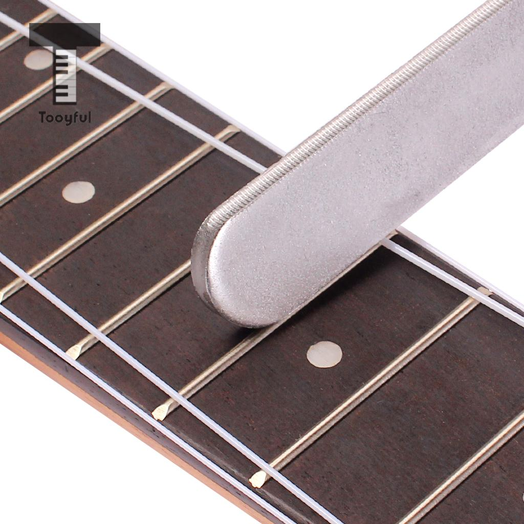 Tooyful 1Pc Guitar Fret Crowning Luthier File Stainless Steel Narrow Dual Cutting Edge Tool Stringed Guitar Instrument Accessory