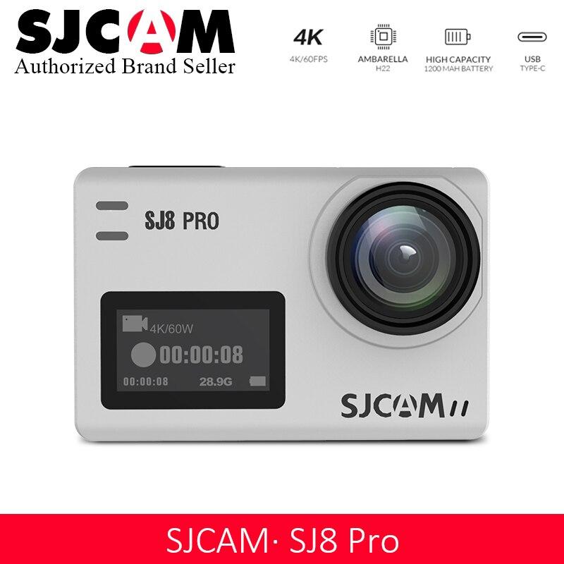 Promotion!! SJCAM SJ8 Pro D'action Caméra 1296 P 4 K 30fps/60fps Sport DV Télécommande Casque Caméra Plus Accessoires