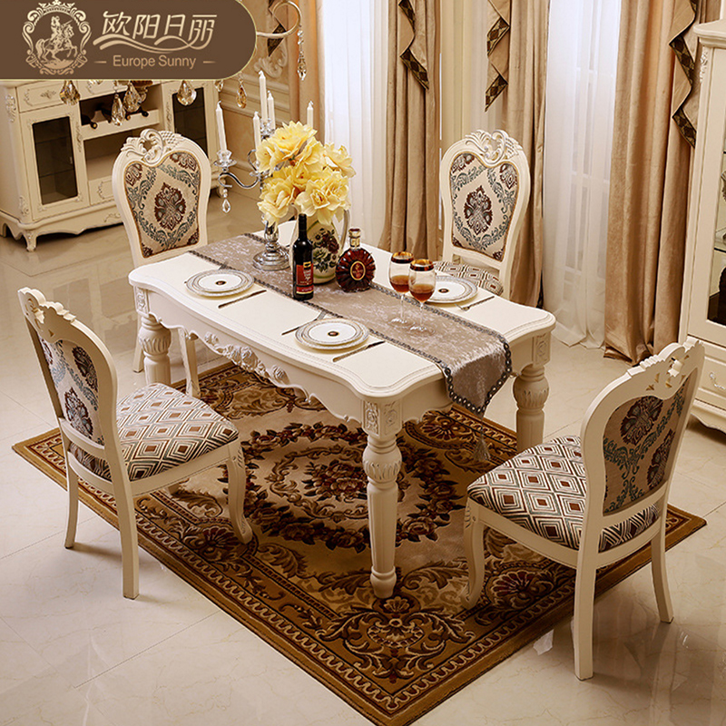 Aliexpress Buy The Marble Dining Table Set Ottoman Chair Room Furniture By High End European Antique Solid Wood From Reliable