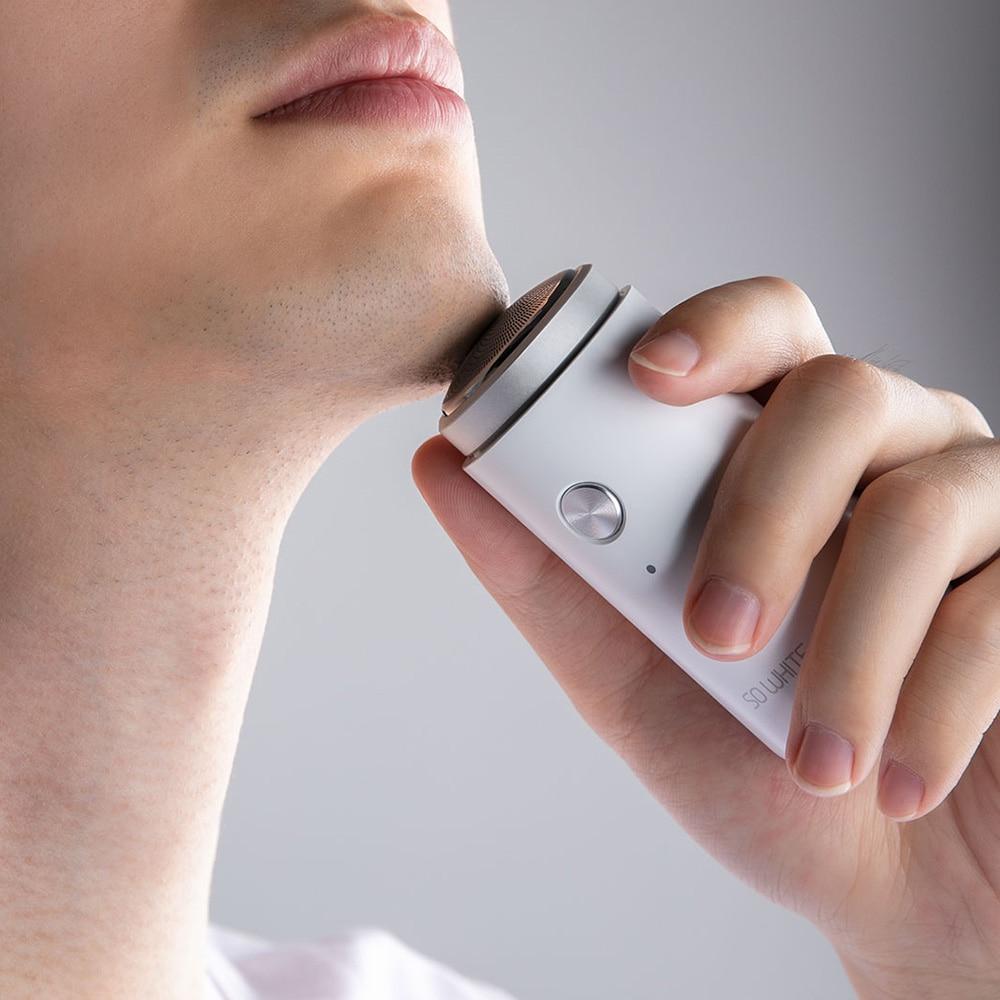 Xiaomi SO WHITE Mini Electric Razor Shaver Portable Durable Endurance Dry Wet Shaving Razor for Men-in Smart Remote Control from Consumer Electronics