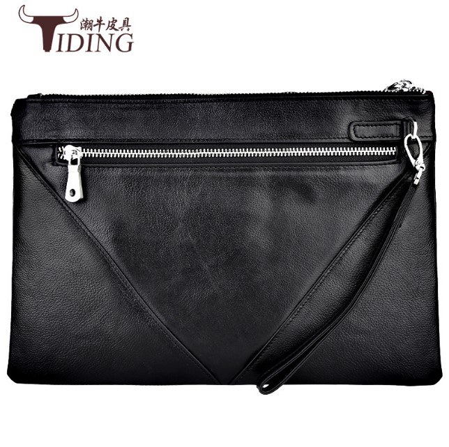 Mannen Clutch Bag Koe Lederen Handtas Telefoon Geld Bag Real Leather Lange Walllet Business Mannen Koppelingen Purse Luxe Lange Clutch tassen - 3