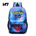 VN Juego Pokemon Gengar Go Mochila Mochilas Escolares Impresión Luminosa Caliente Bolsas Bolso de Hombros Para Las Niñas Adolescentes Mochila Feminina