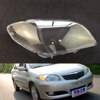 For Toyota Vios 2006 2007 Car Headlight Headlamp Clear Lens Auto Shell Cover